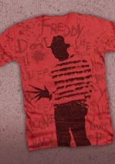 NIGHTMARE ON ELM STREET - SCRIBBLES (ALL OVER PRINT) DISCONTINUED - LIMITED QUANTITIES AVAILABLE [MENS SHIRT]
