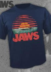 JAWS - SUNSET (NAVY) [GUYS SHIRT]