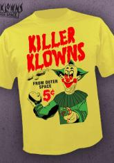 KILLER KLOWNS FROM OUTER SPACE - TRADING CARDS (YELLOW) [MENS SHIRT]