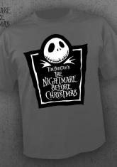 NIGHTMARE BEFORE CHRISTMAS - LOGO (GRAY) [GUYS SHIRT]