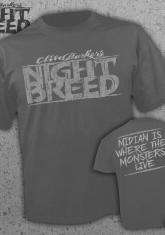 NIGHTBREED - LOGO/MIDIAN IS WHERE THE MONSTERS LIVE (CHARCOAL) [GUYS SHIRT] - EXCLUSIVE