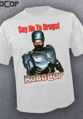 ROBOCOP - SAY NO TO DRUGS (WHITE) [GUYS SHIRT]