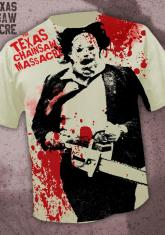 TEXAS CHAINSAW MASSACRE - BLOODY LEATHERFACE [FULL FRONT PRINT SHIRT]