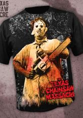 TEXAS CHAINSAW MASSACRE - LEATHERFACE [FULL FRONT PRINT SHIRT]
