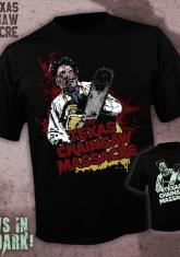 TEXAS CHAINSAW MASSACRE - LEATHERFACE (GLOW IN THE DARK SHIRTS RANDOMLY INSERTED) [GUYS SHIRT]