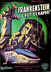 The Curse Of Frankenstein Poster 2