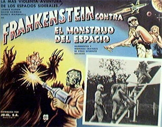 Frankenstein Meets the Spacemonster Poster