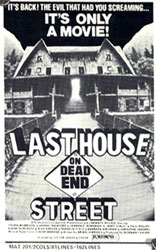 Last House On Dead End Street Poster 2