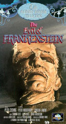 The Evil of Frankenstein Video Cover
