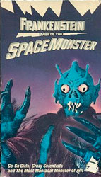 Frankenstein Meets the Spacemonster Video Cover 2
